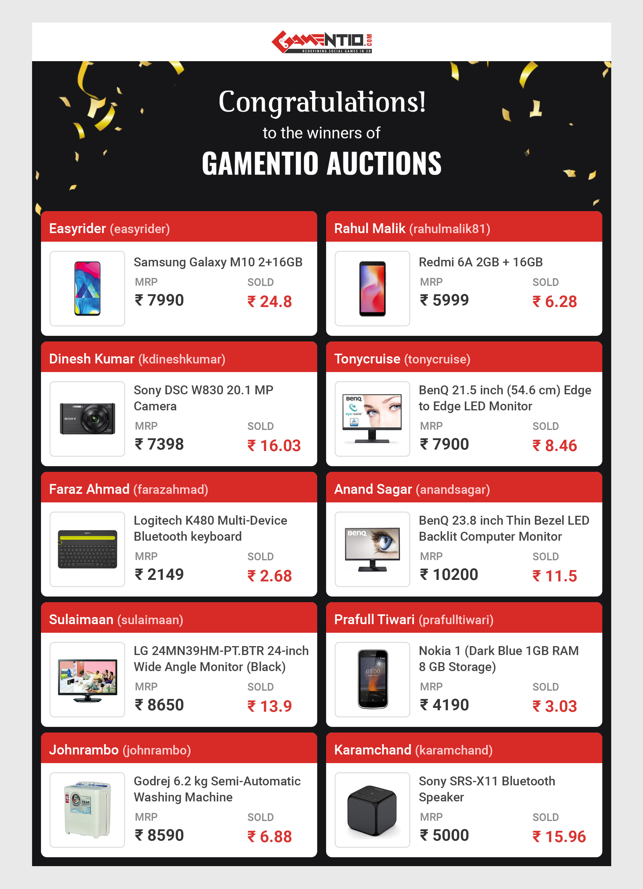 Gamentio Online Auctions